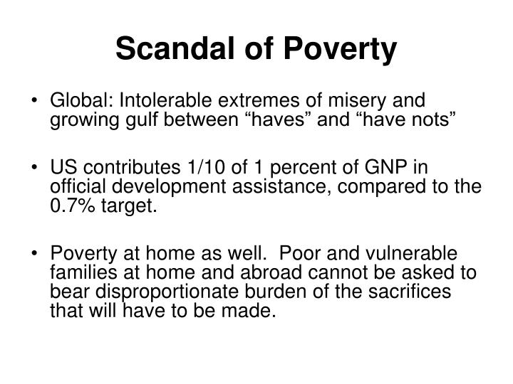 Scandal of Poverty
