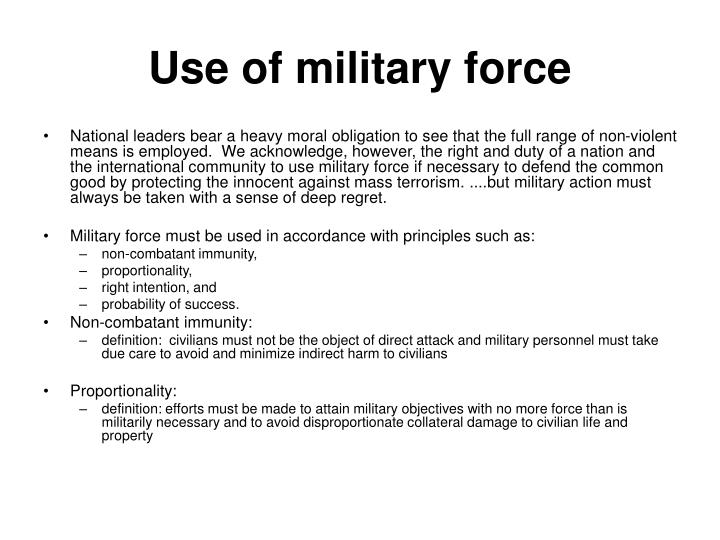 Use of military force