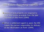 real estate reporting 1099s