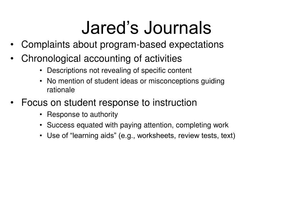 Jared's Journals