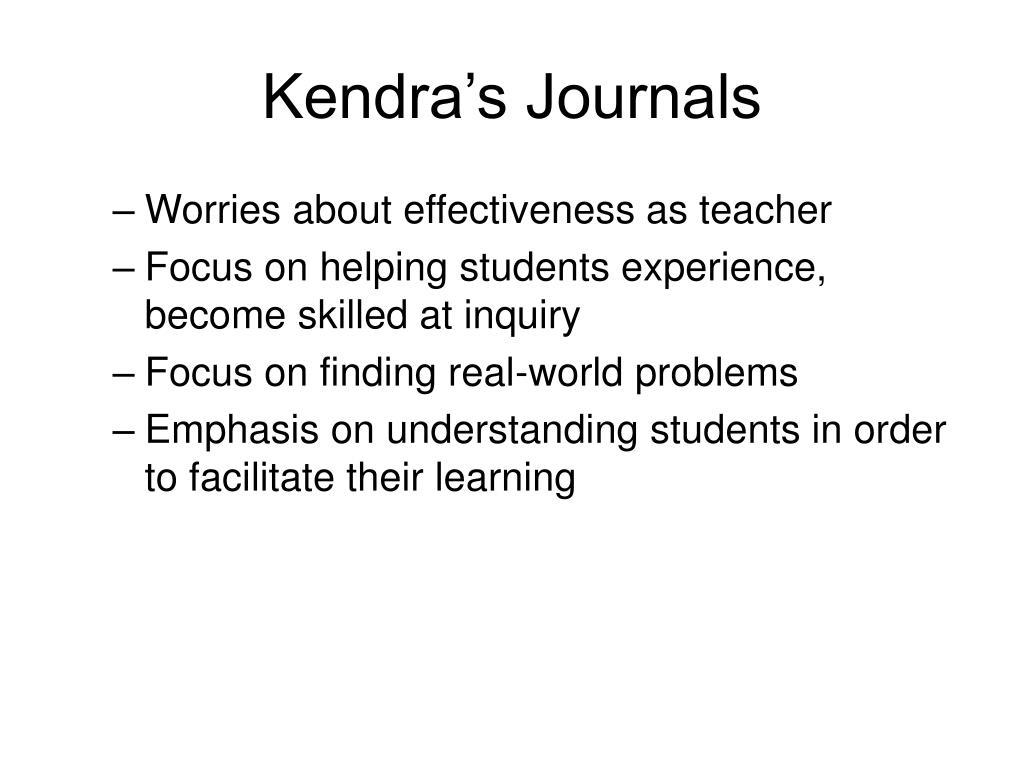 Kendra's Journals