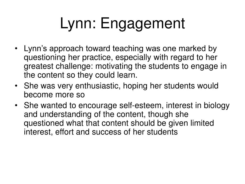 Lynn: Engagement