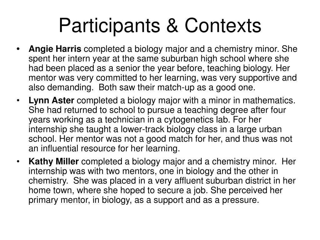Participants & Contexts