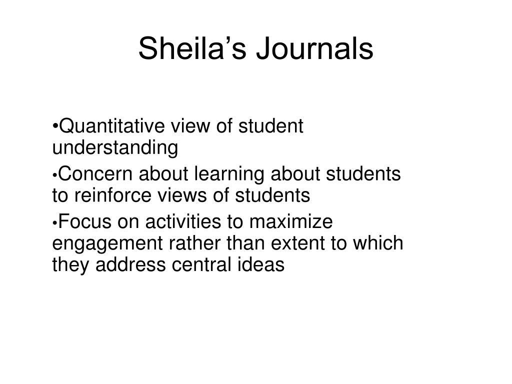 Sheila's Journals