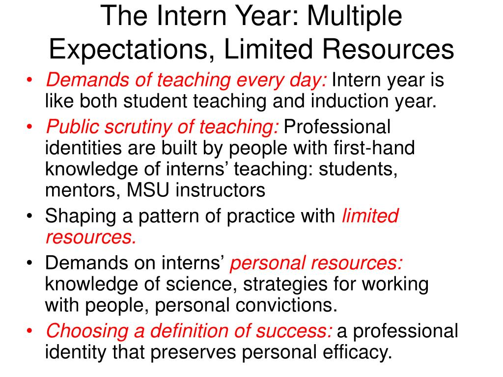 internship expectations essay