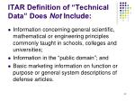 itar definition of technical data does not include
