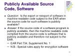 publicly available source code software