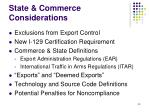 state commerce considerations