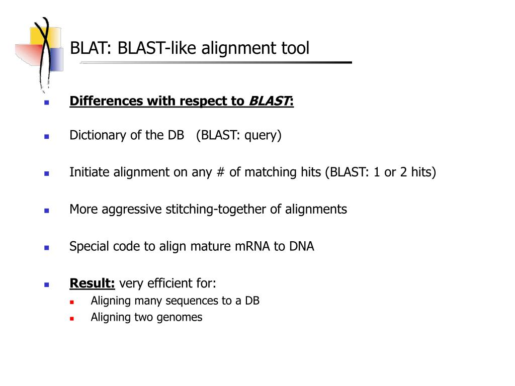 BLAT: BLAST-like alignment tool