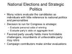 national elections and strategic politics