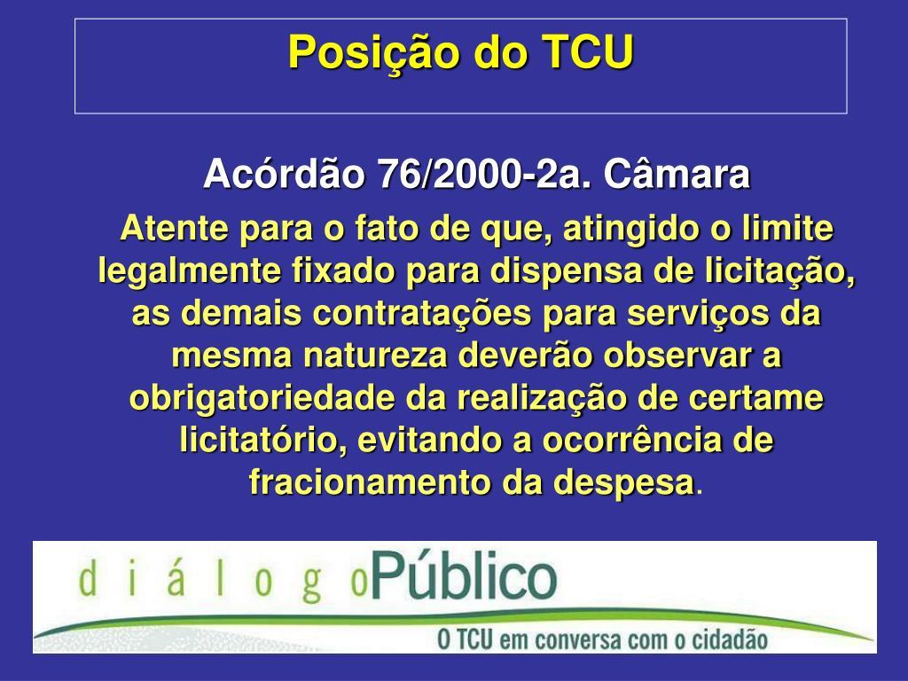 Posição do TCU