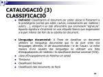catalogaci 3 classificaci
