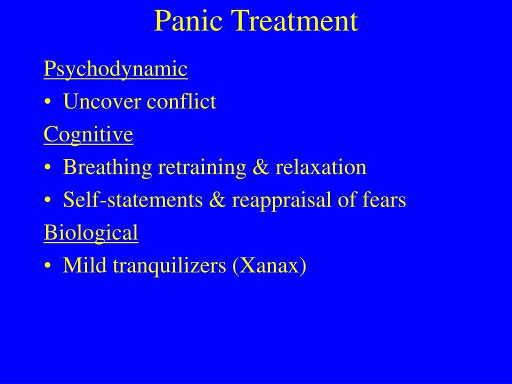 Panic Treatment