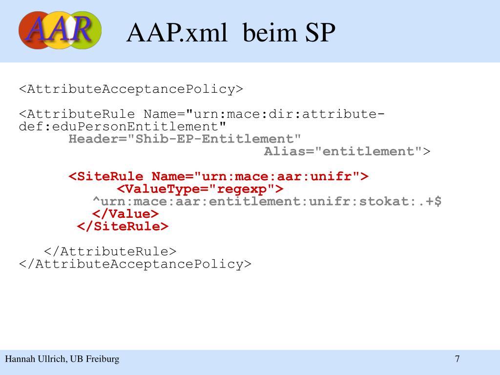 AAP.xml  beim SP
