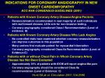 indications for coronary angiography in new onset cardiomyopathy acc aha consensus guidelines 2001