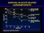 survival in acute dilated cardiomyopathy