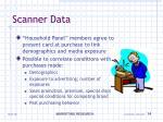 scanner data