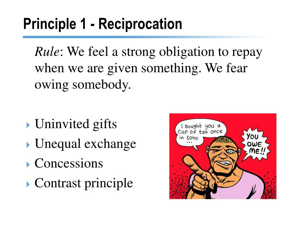 Principle 1 - Reciprocation