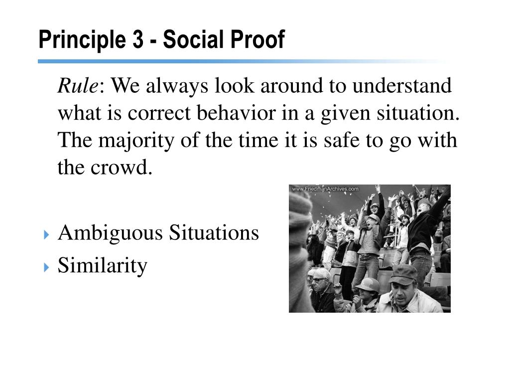 Principle 3 - Social Proof