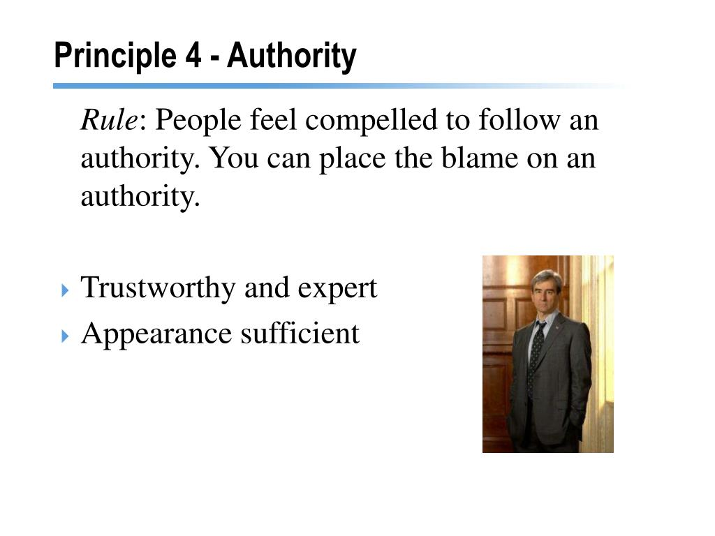 Principle 4 - Authority