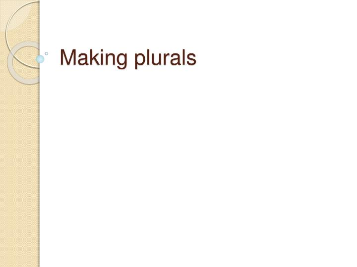 Making plurals l.jpg