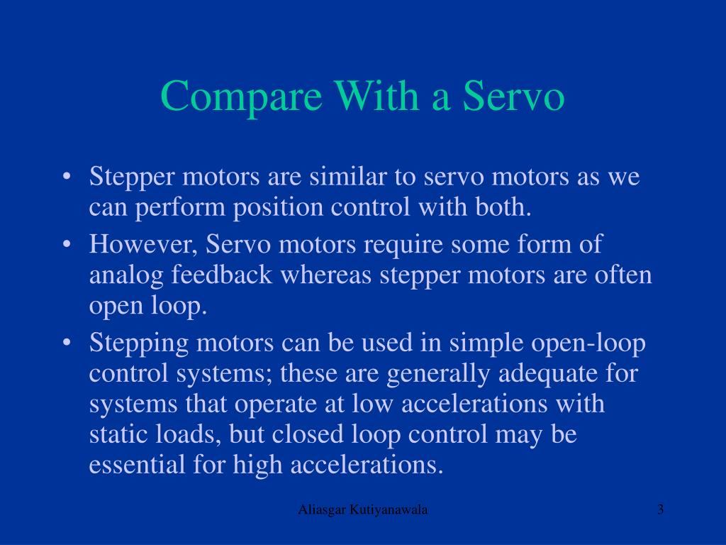 Compare With a Servo
