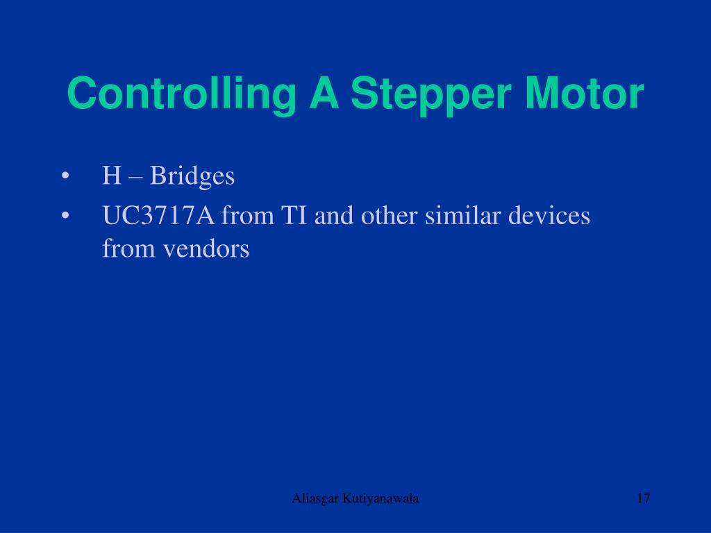 Controlling A Stepper Motor