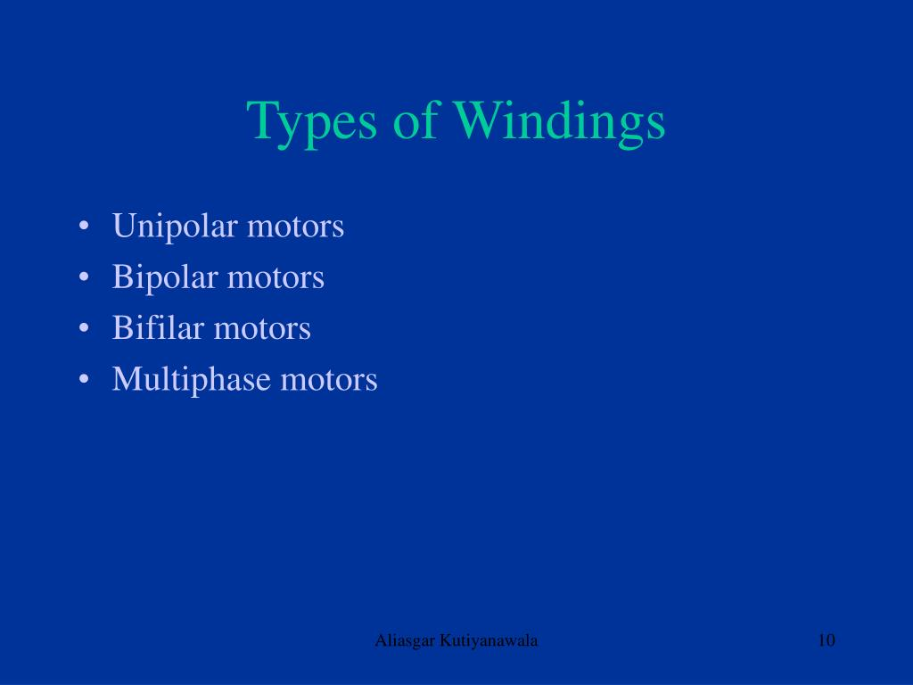 Types of Windings