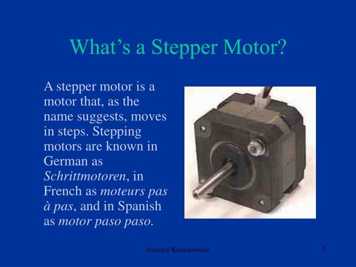 What s a stepper motor