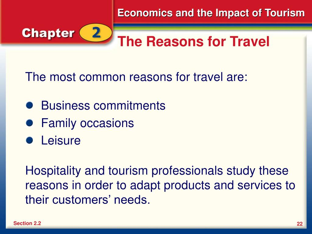 The Reasons for Travel