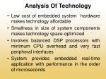 analysis of technology