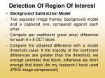 detection of region of interest