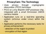 privacycam the technology