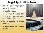 target application areas