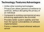technology features advantages