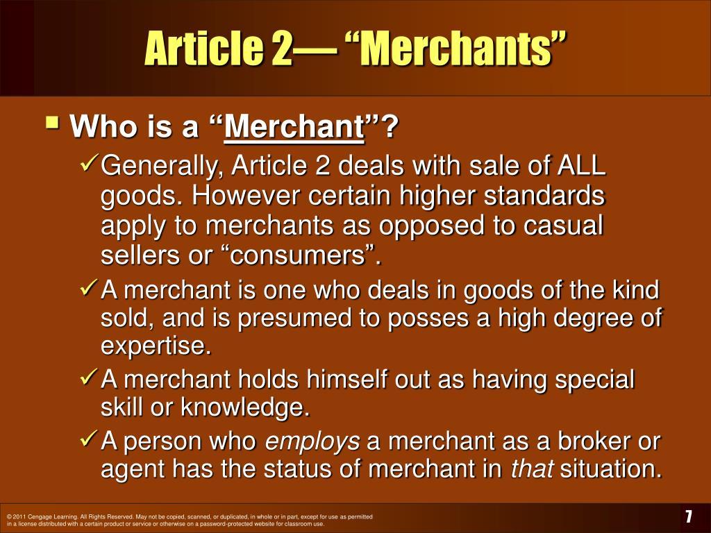 "Article 2— ""Merchants"""