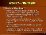 article 2 merchants