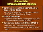 contracts for international sale of goods