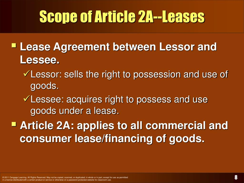 Scope of Article 2A--Leases