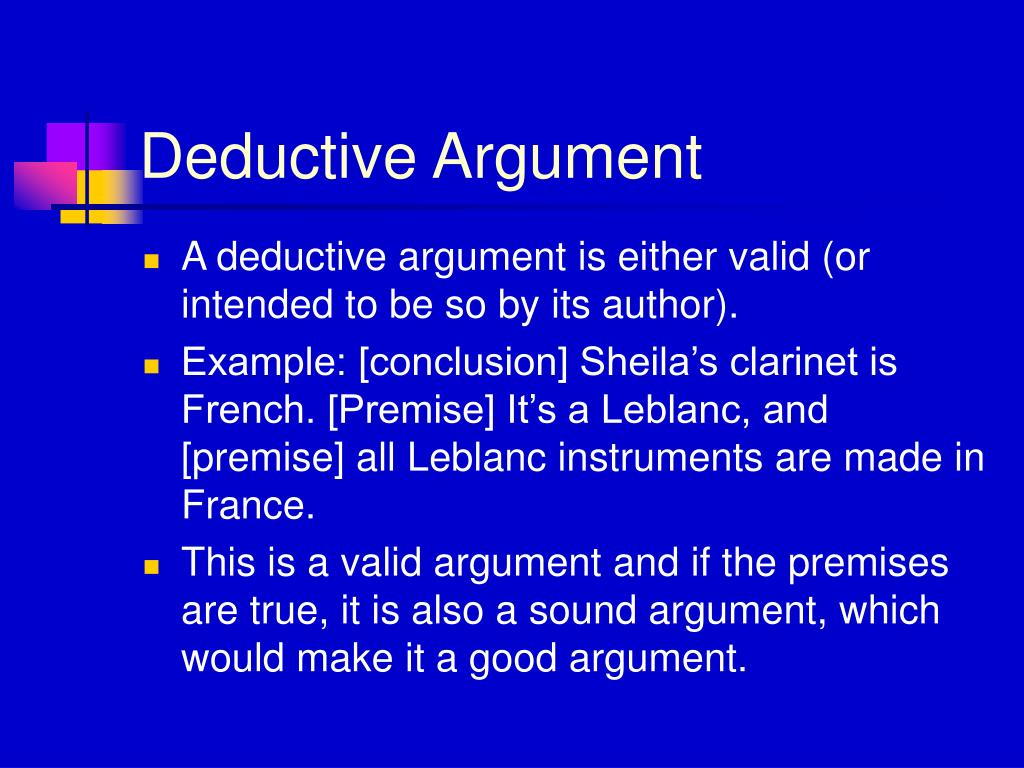 Premise Indicator Words: What Makes An Argument Deductive. Difference Between