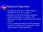 deductive argument