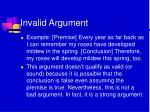 invalid argument8