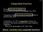 computable function13