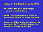 brac in the pacific north west