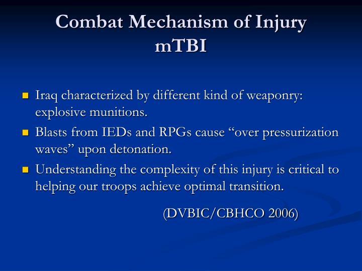 Combat Mechanism of Injury