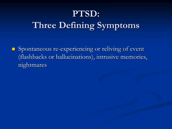 PTSD:
