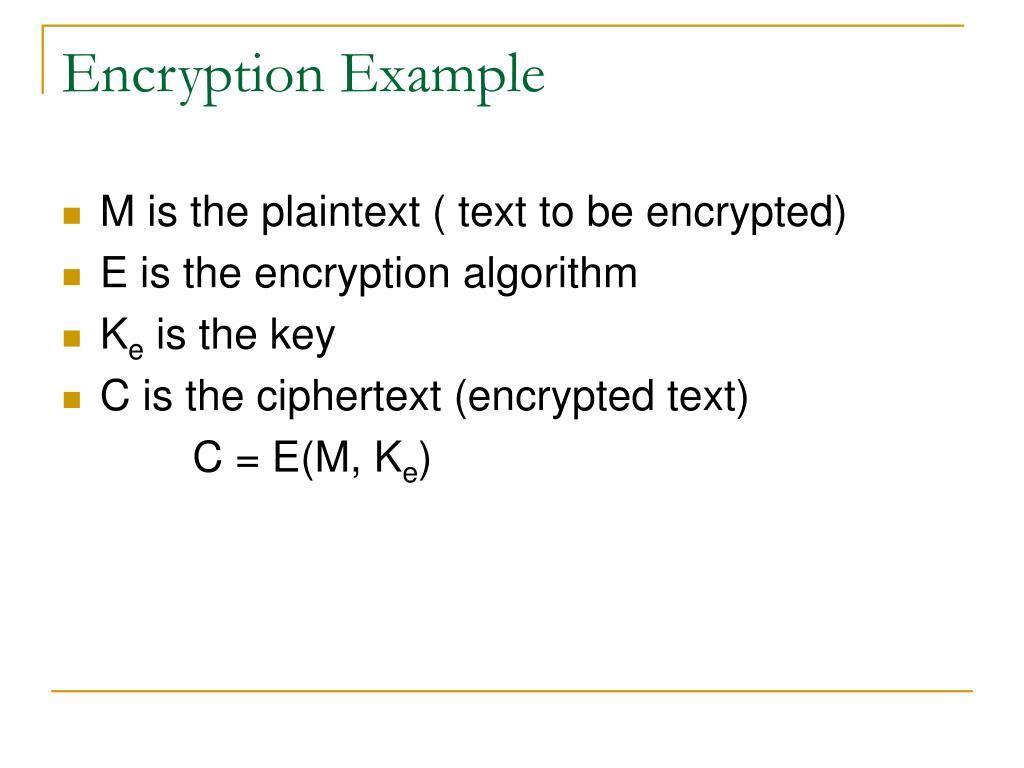 Encryption Example