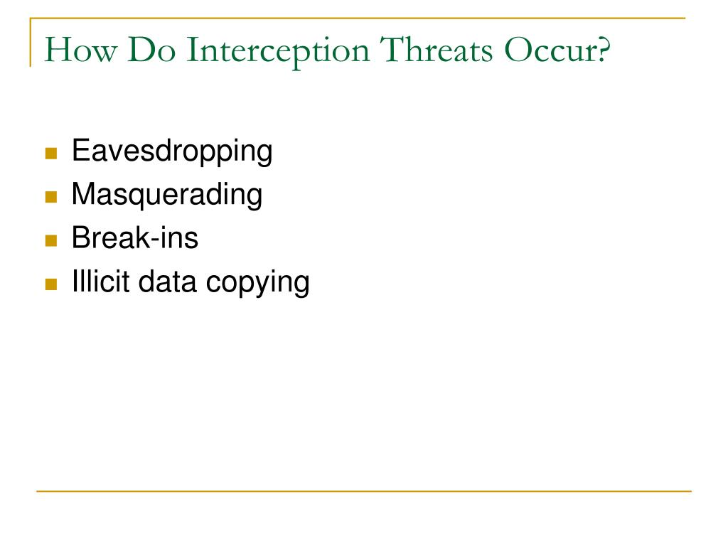 How Do Interception Threats Occur?