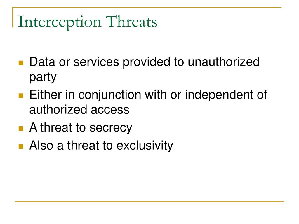 Interception Threats