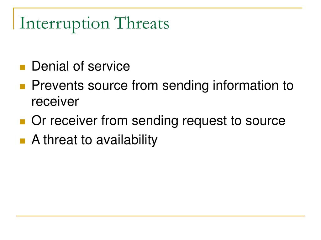 Interruption Threats